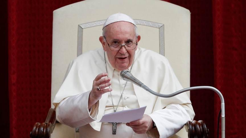 Papa Francisco na primeira audiência pública desde março