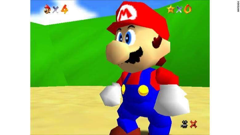 """""""Super Mario 64"""" foi o primeiro jogo de Mario em 3D."""