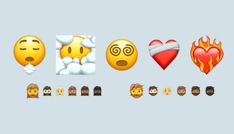 Uma amostra dos novos emojis que chegarão em 2021.
