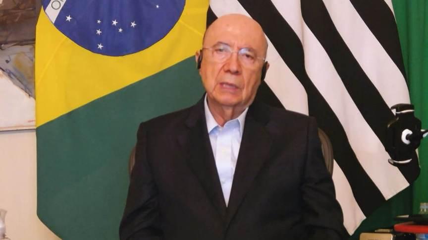 Henrique Meirelles , secretário estadual da Fazenda de São Paulo (08.fev.2021)