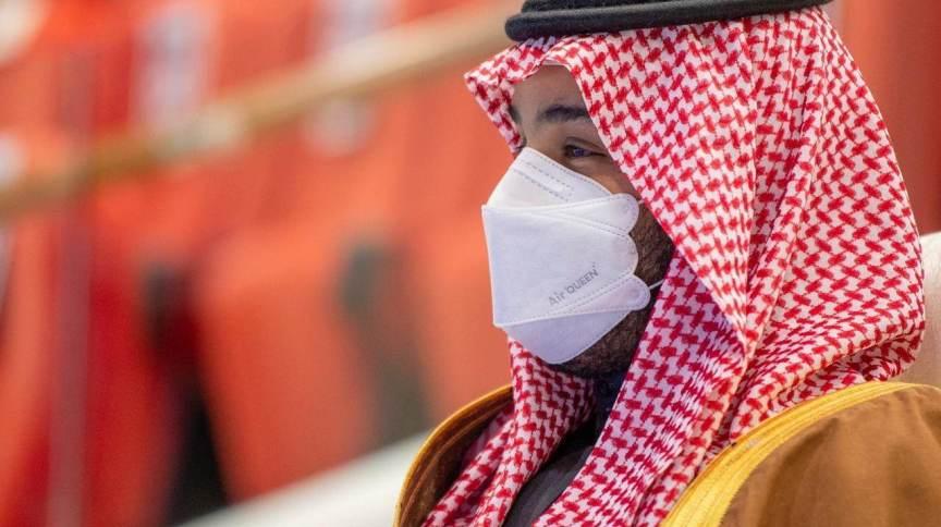 Príncipe da coroa saudita, Mohammed bin Salman, em Riad