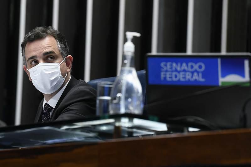 Presidente do Senado Federal, senador Rodrigo Pacheco (DEM-MG).