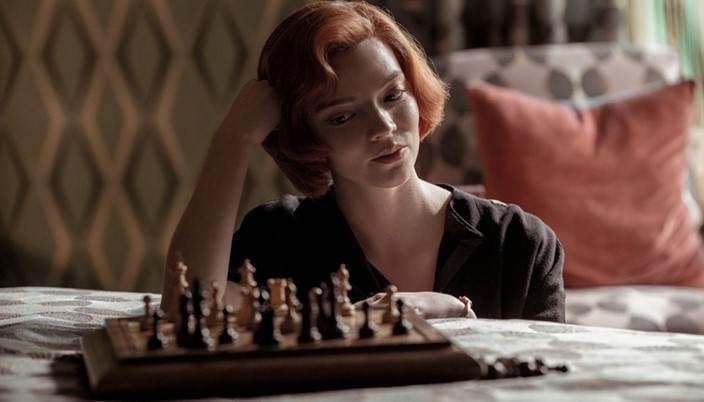 Anya Taylor-Joy em O Gambito da Rainha