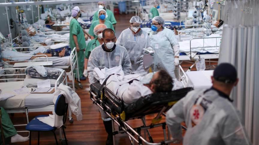 Hospital de campanha para pacientes da Covid-19 em Santo André, em São Paulo