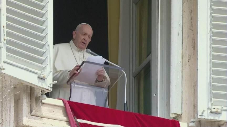 Papa Francisco durante discurso no Vaticano (18.abr.2021)