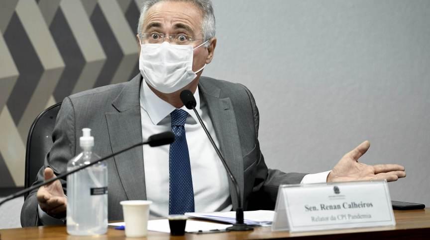 O senador Renan Calheiros (MDB-AL) é relator da CPI da Pandemia