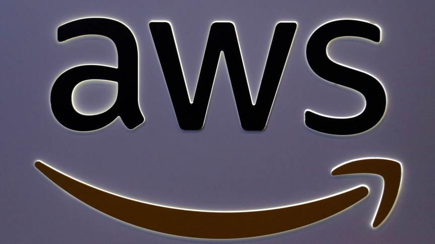 Logo da unidade de serviços em web da Amazon