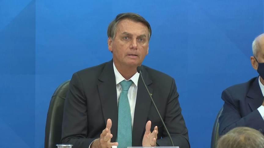 Presidente Jair Bolsonaro participou de evento para assinar contrato de transferência de tecnologia para vacinas nacionais