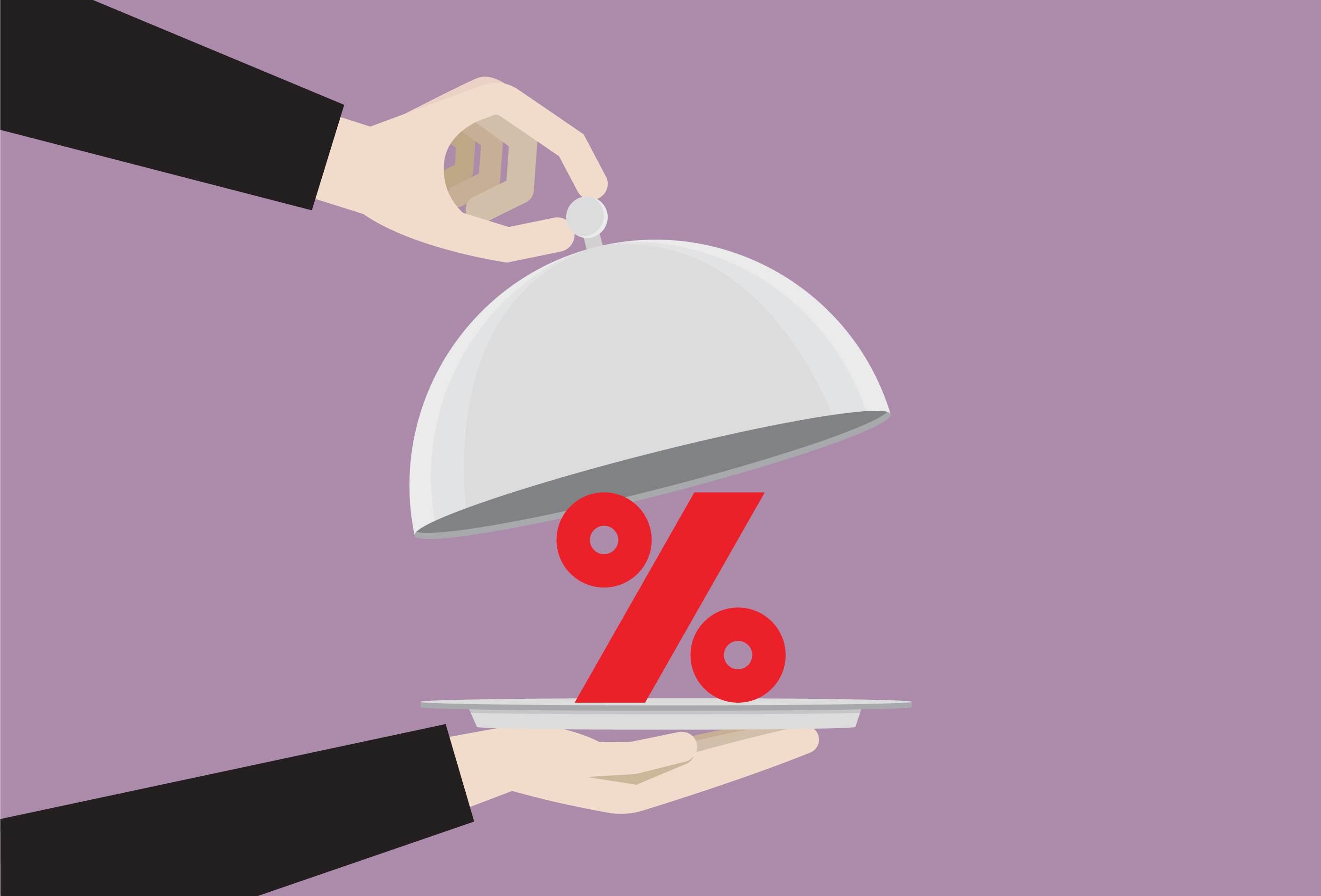 Porcentagem juros inflação dinheiro investimentos
