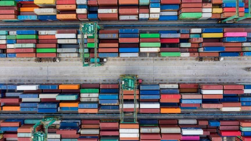 Porto de Nansha em Guangzhou, na China