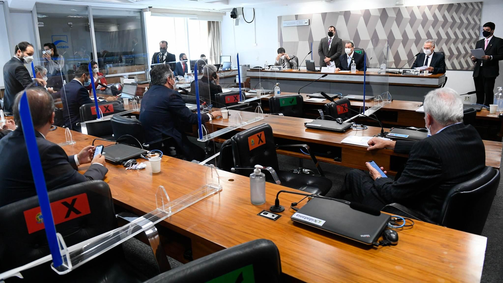 Sessão da CPI da Pandemia nesta quarta-feira (23)