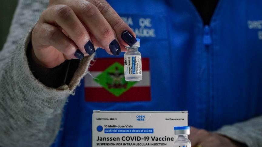 Chegada das vacinas da Janssen em Santa Catarina