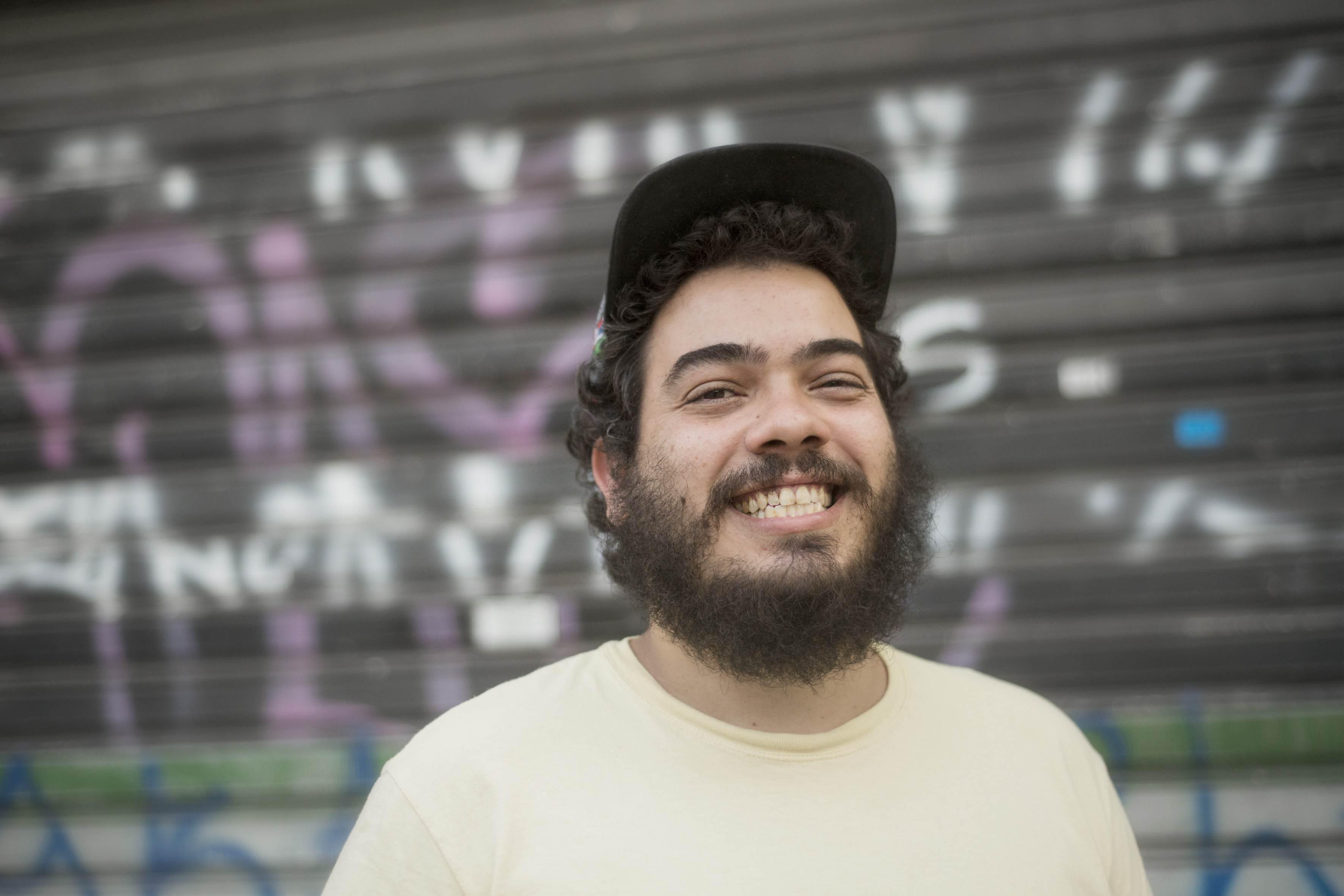 O ativista Iran Giusti, organizador do projeto Casa1