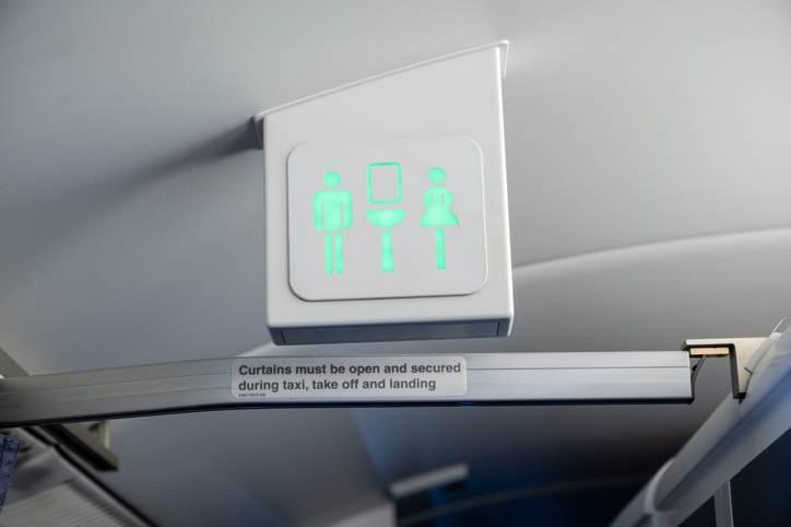 Banheiro de avião