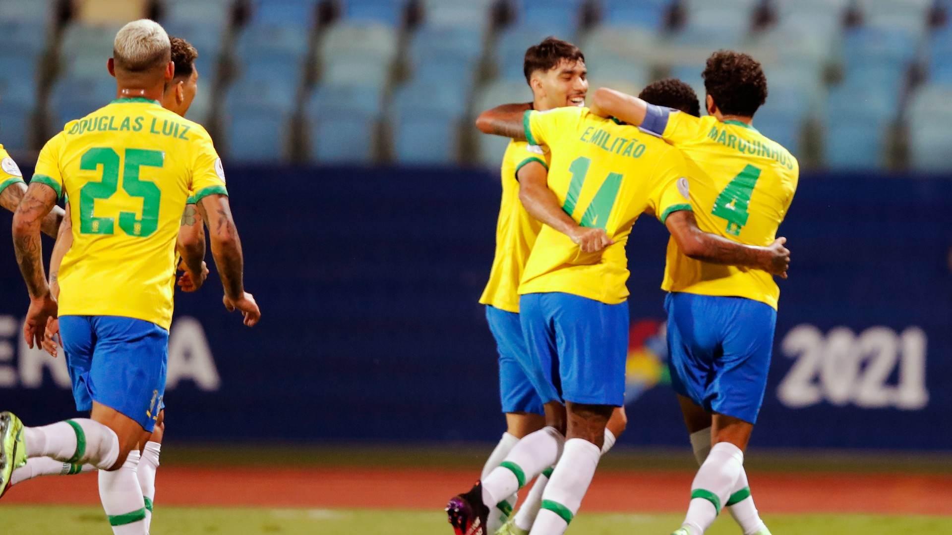 Zagueiro marcou seu primeiro gol com a camisa da Seleção