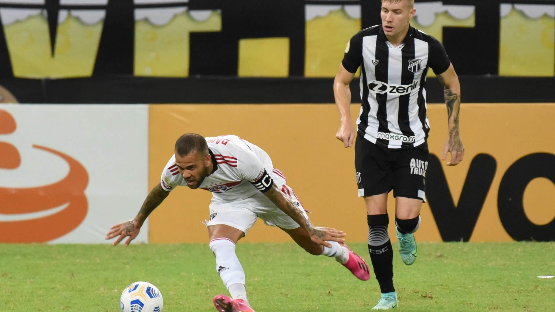 São Paulo conseguiu o empate com um gol contra da equipe cearense no segundo tem