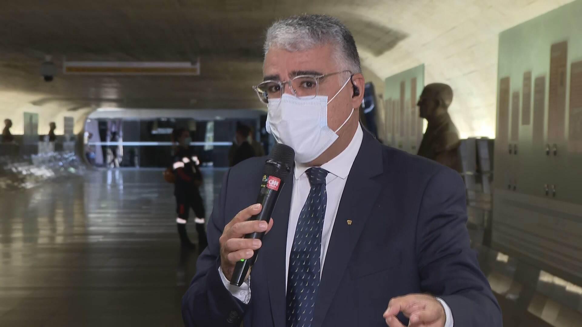 Senador Eduardo Girão (Podemos-CE), membro titular da CPI da Pandemia