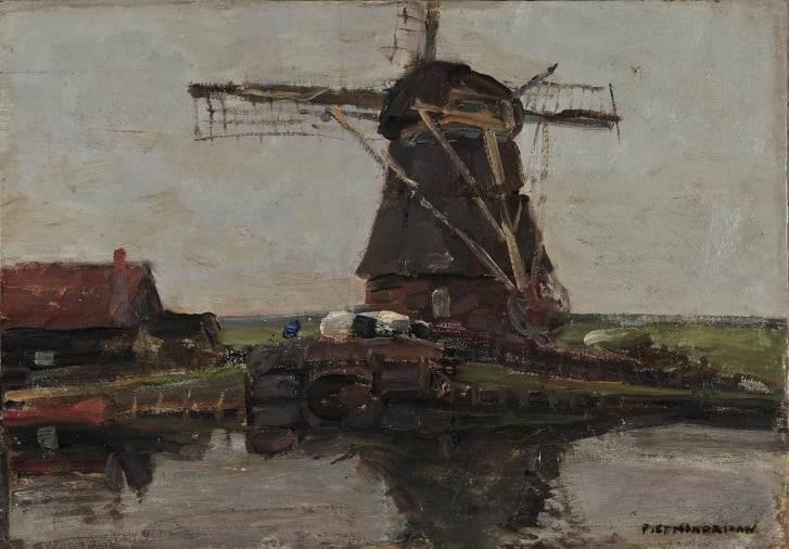 """""""Paisagem com Moinho"""", Piet Mondrian"""