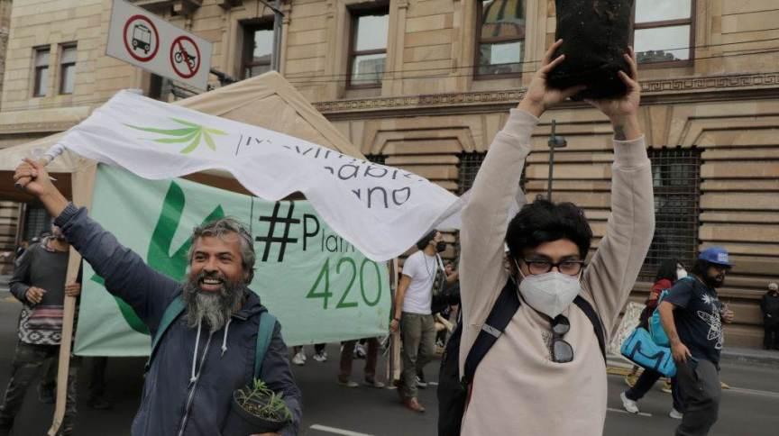 Marcha pela legalização da maconha no México