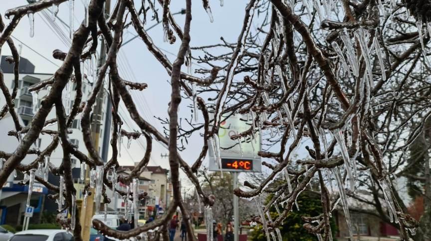 Frio em Santa Catarina: Termômetro marca temperatura negativa