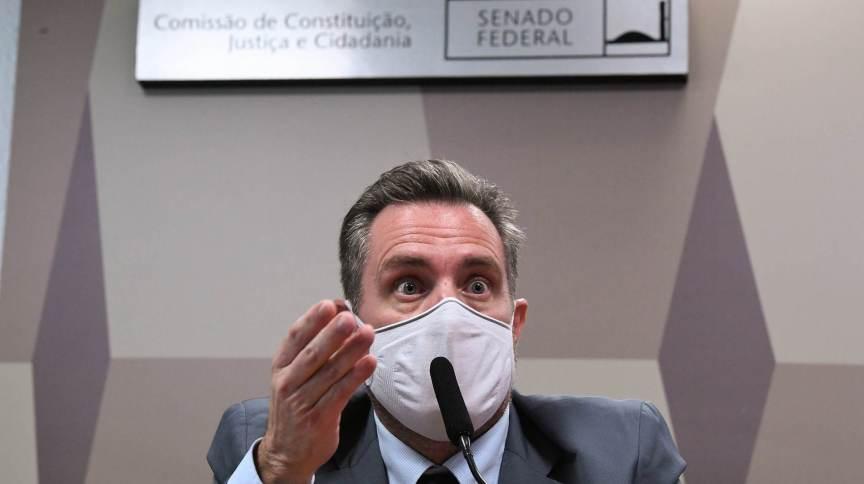 Luiz Paulo Dominguetti Pereira durante depoimento na CPI da Pandemia