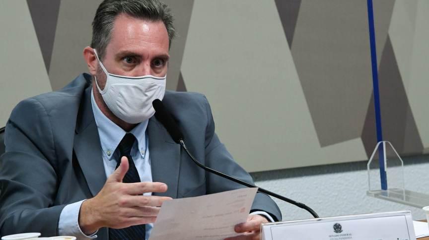 Policial militar Luiz Paulo Dominguetti depõe à CPI