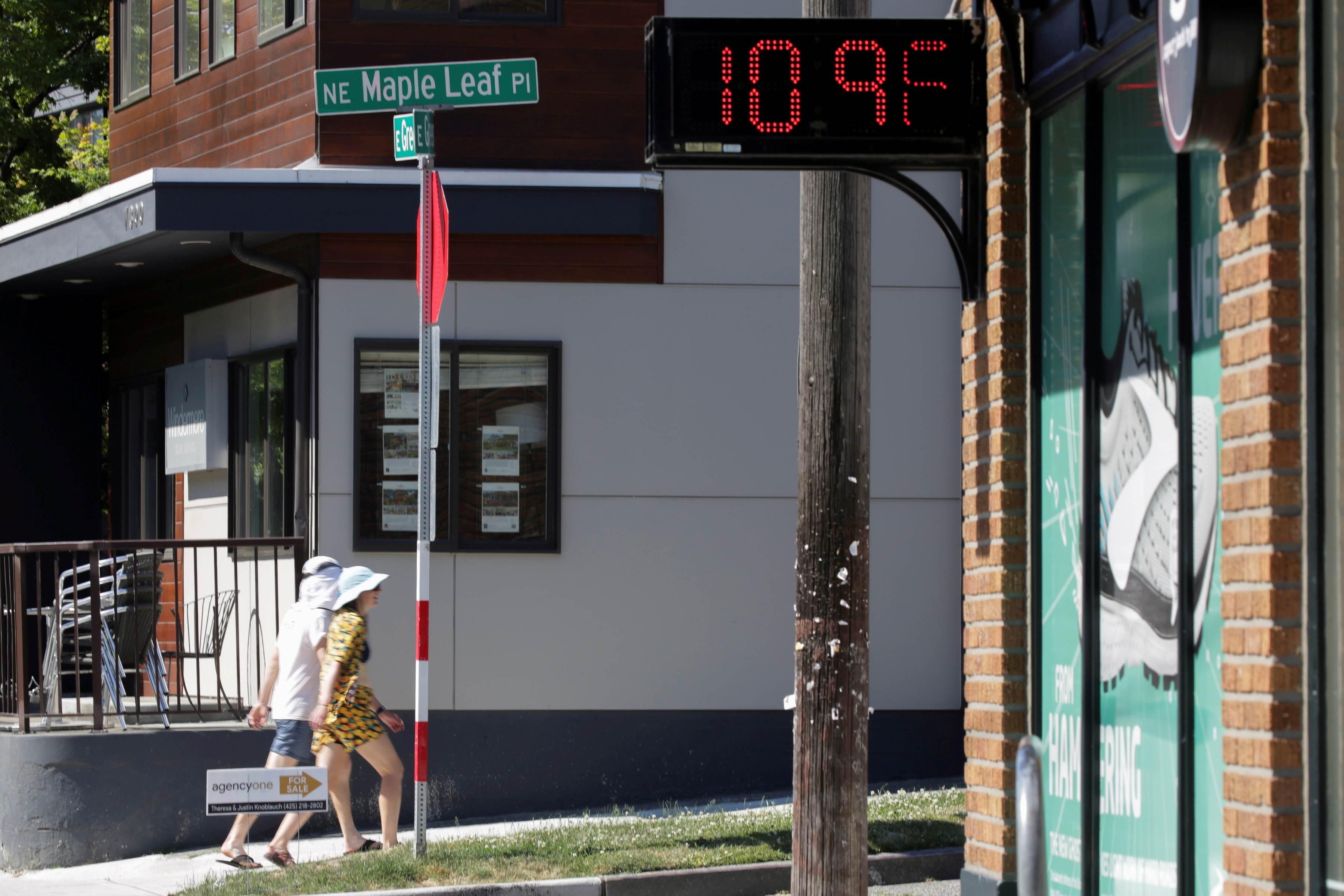 Termômetro marca 109ºF, o equivalente a 42,7ºC, em Seattle, nos EUA
