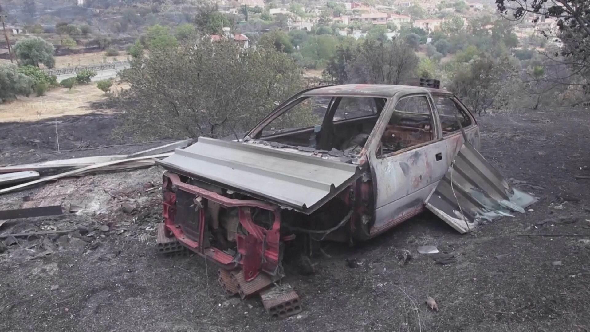 Incêndio florestal deixa pelo menos quatro mortos no Chipre (04.Jul.2021)