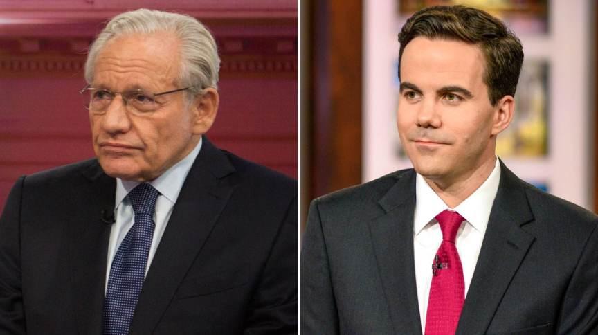 Bob Woodward (E) e Robert Costa (D), ambos do jornal The Washington Post