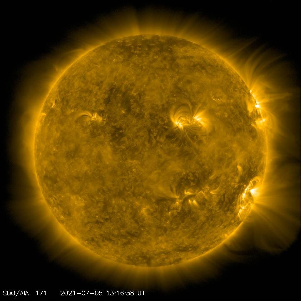 Erupção solar captada pela Nasa/Divulgação