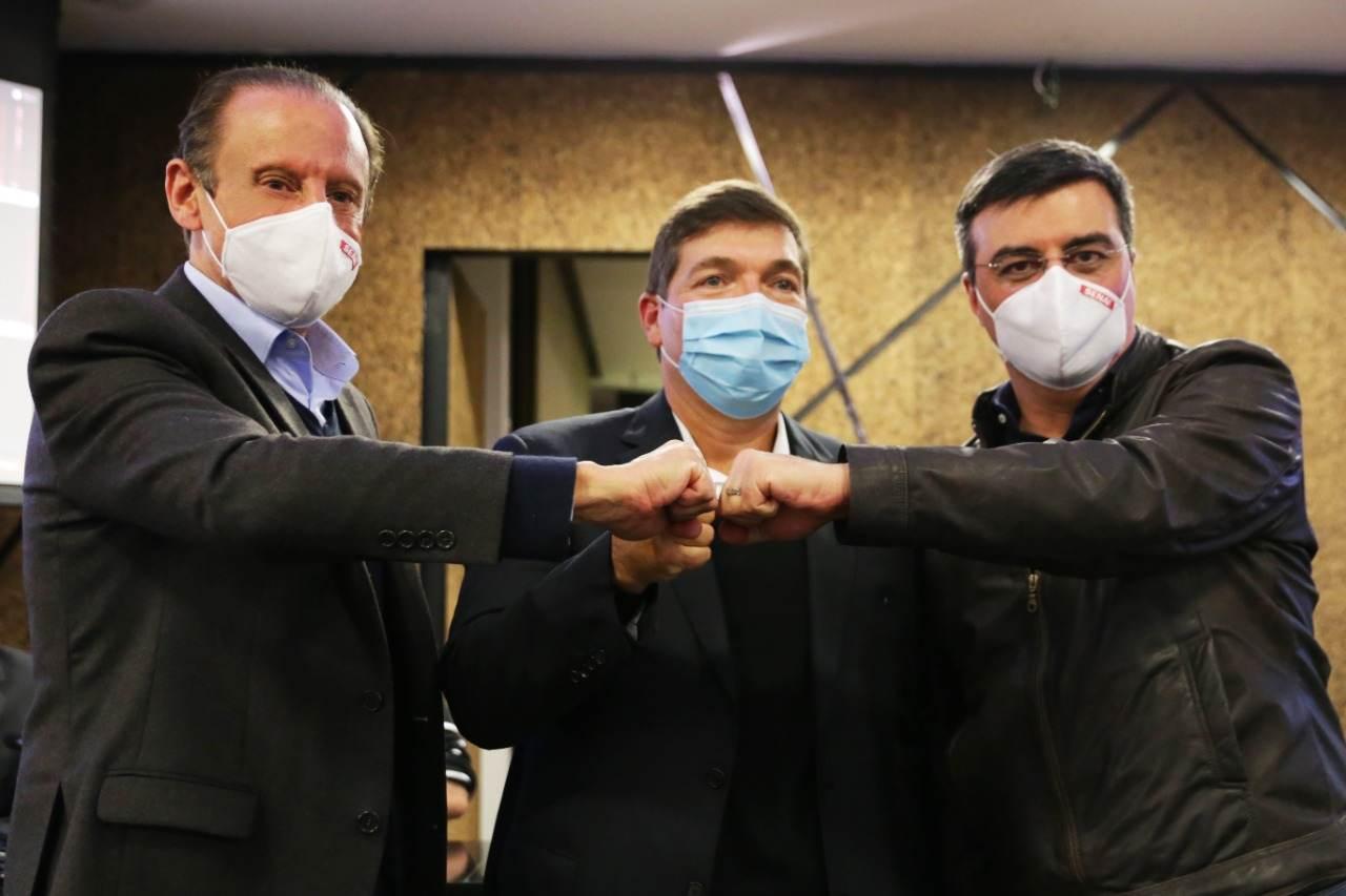 Paulo Skaf, Josué Gomes da Silva e Rafael Cervone