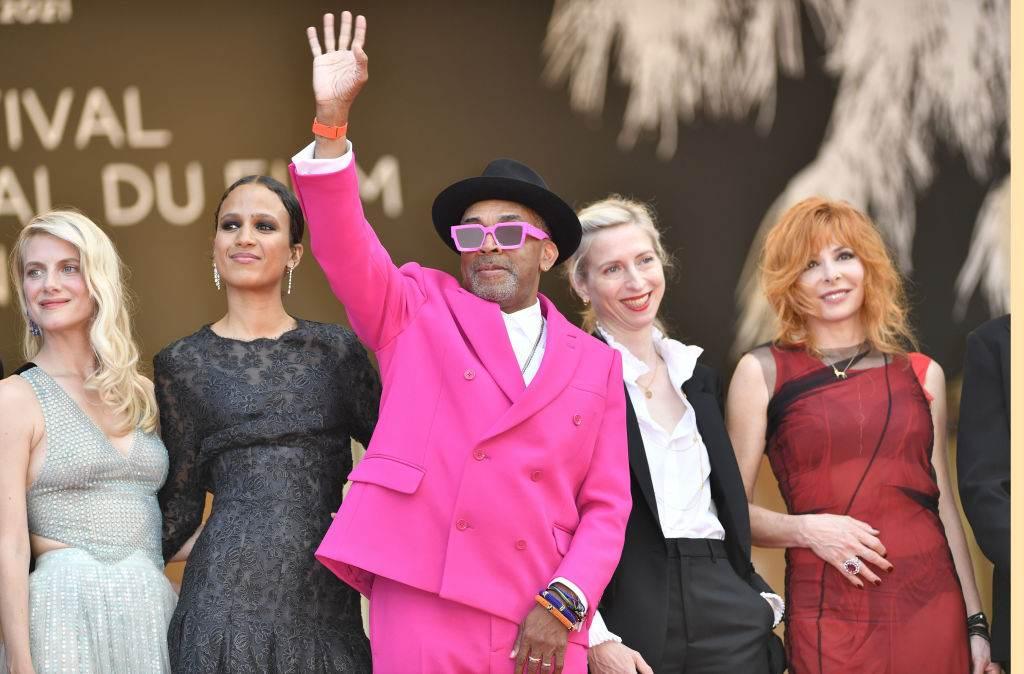 O presidente do júri de Cannes, Spike Lee, e as juradas Melanie Laurent, Mati Di