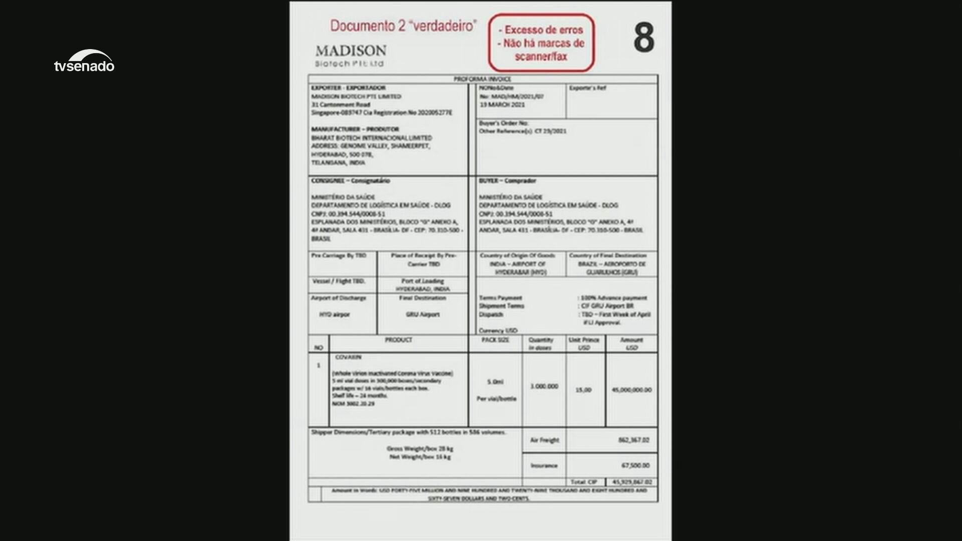 Documentos apresentados pela senadora Simone Tebet (MDB-MS) à CPI da Pandemia