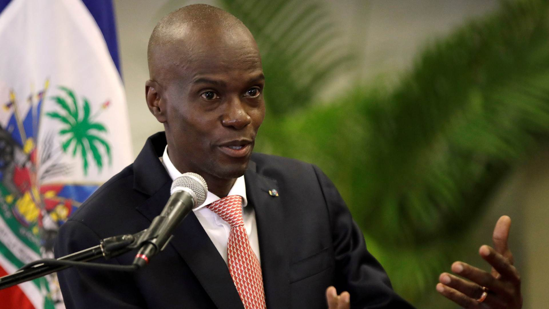 Jovenel Moise durante entrevista coletiva em Porto Príncipe