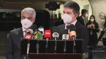 Presidente da CPI, senador Omar Aziz (PSD-AM) deu voz de prisão ao ex-diretor da Saúde em sessão nesta quarta-feira (7)