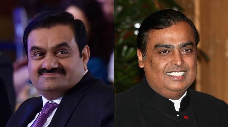 Adani e Ambani são os homens mais ricos da Índia