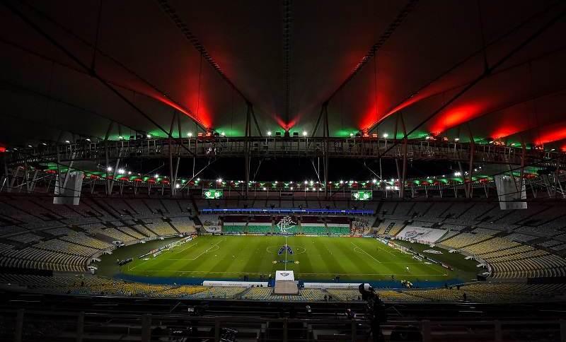 Vista geral do estádio Maracanã, palco da final entre Brasil e Argentina