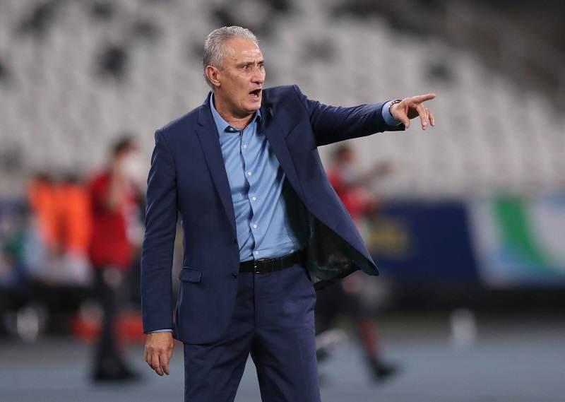 Técnico Tite em partida da Seleção Brasileira