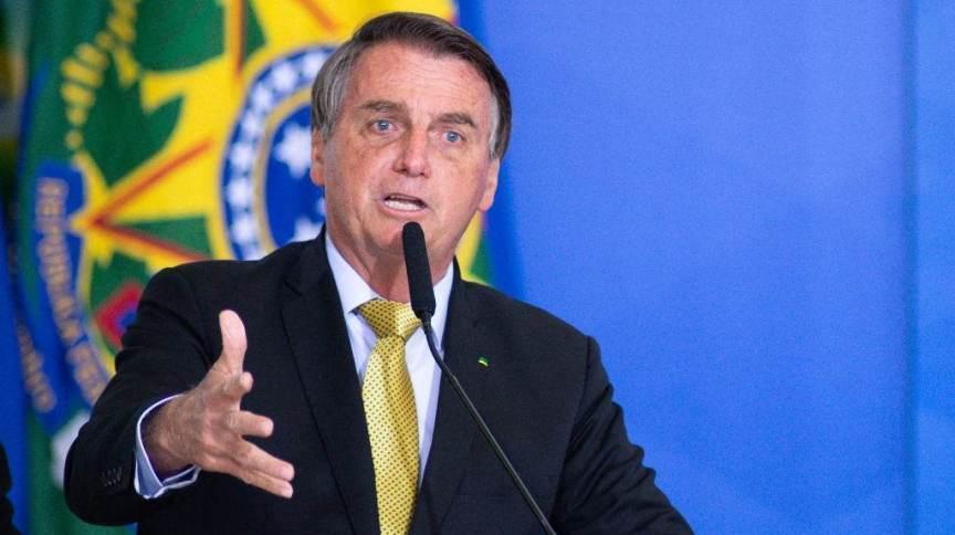 O presidente Jair Bolsonaro (sem partido) em evento no Palácio do Planalto no dia 29 de junho de 2021