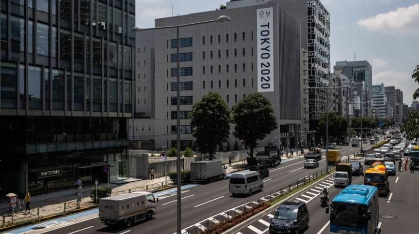 Avenida na região central de Tóquio, Japão