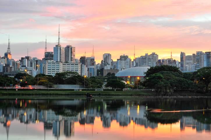 Paque do Ibirapuera, na cidade de São Paulo