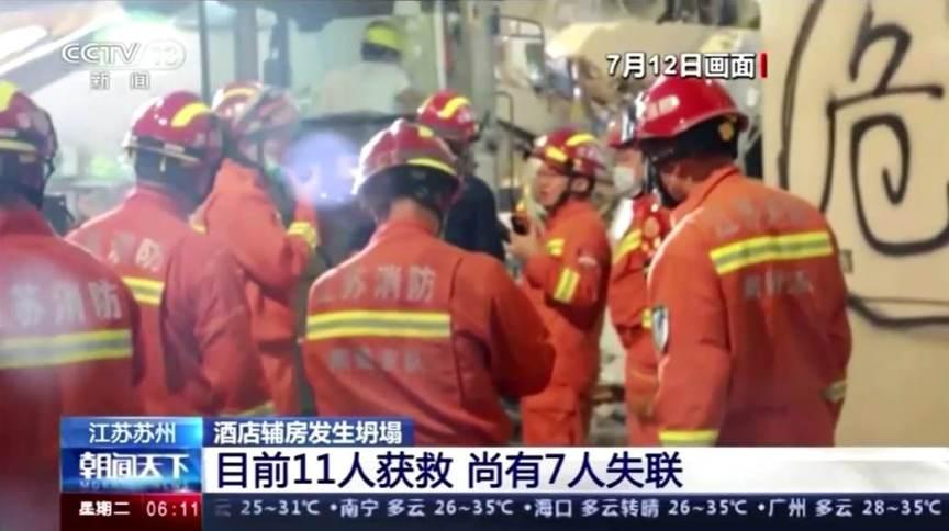 Equipes de resgate buscam sobreviventes após desabamento
