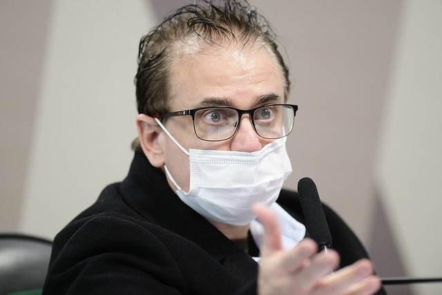 Cristiano Carvalho, representante da empresa Davati, durante depoimento à CPI da Pandemia