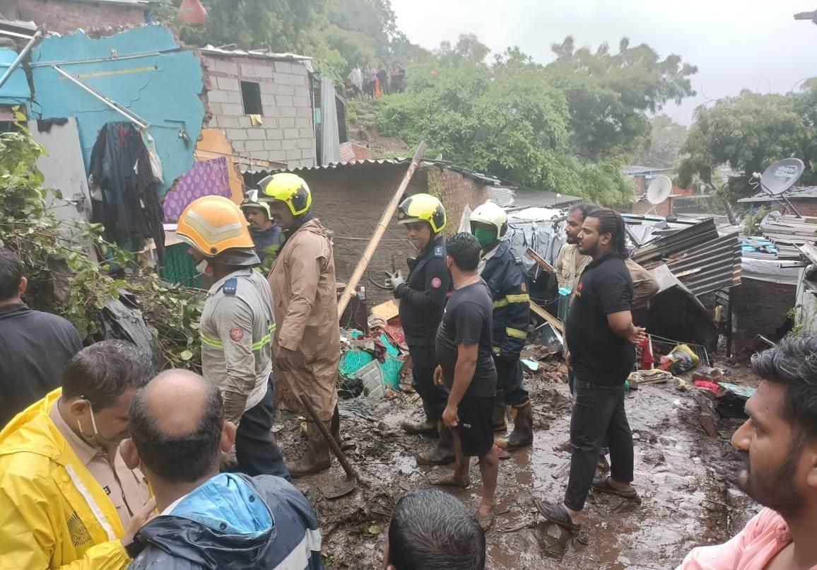 Deslizamento em Mumbai, na Índia