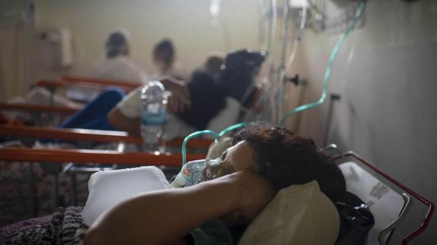 Mulher internada com Covid-19 no Rio de Janeiro