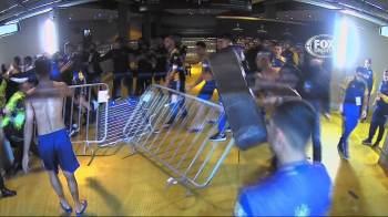 Oito argentinos vão responder a inquérito policial após quebra-quebra em vestiário de estádio