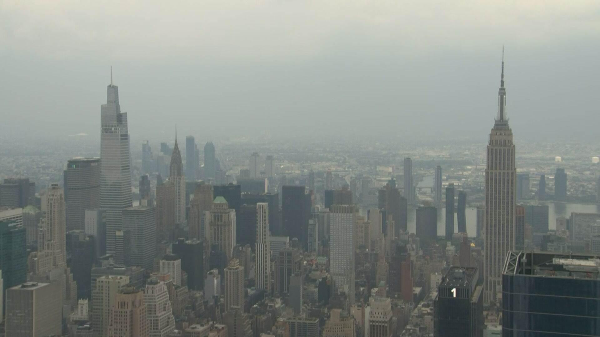 Poluição em Nova York devido a incêndios