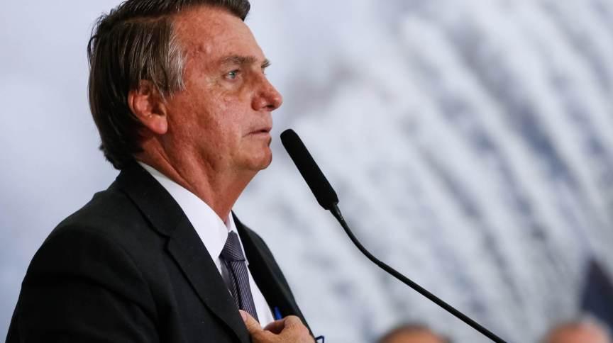 Bolsonaro na solenidade alusiva à Sanção da Lei de Capitalização da Eletrobras