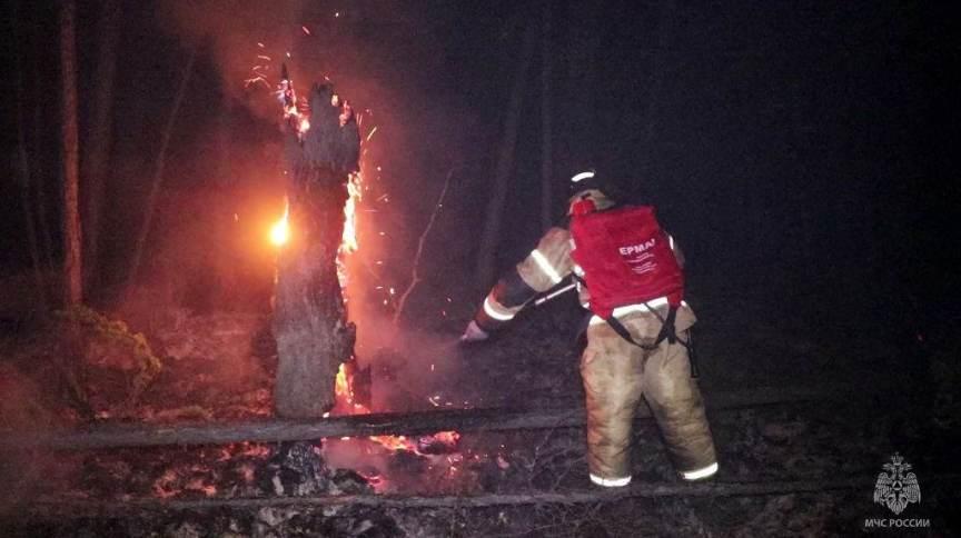 Bombeiros combatem incêndio florestal na região de Yakutia, na Rússia