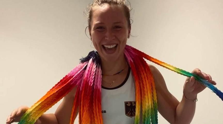 Nike Lorenz, da seleção feminina de hóquei da Alemanha